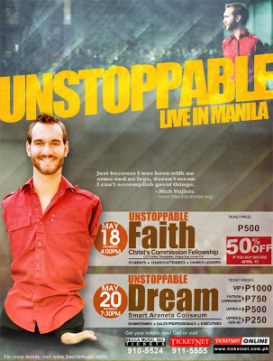 Nick Vujicic in Manila