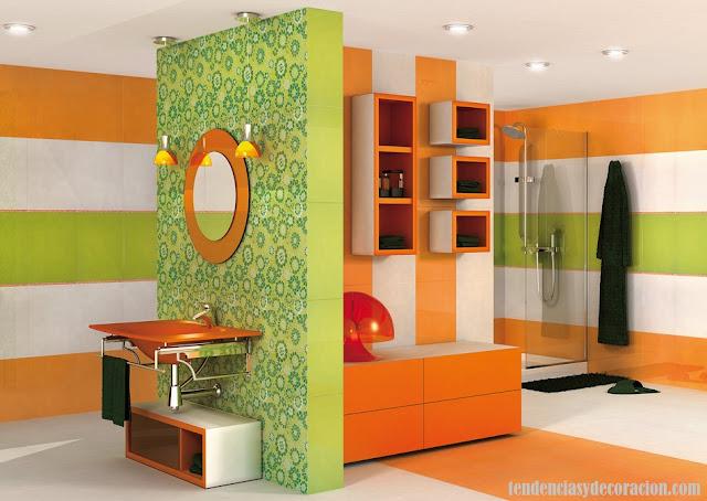 Baño Con Sanitarios Verdes:20 formas de decorar baños infantiles divertidos