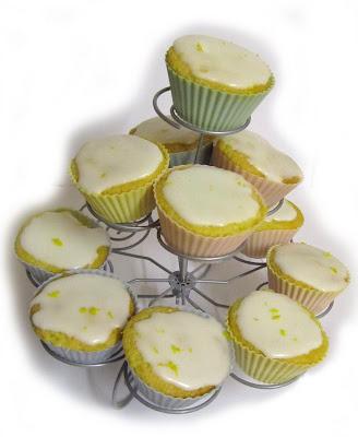 cakes, lemon, pretty, cupcakes, cupcake stand