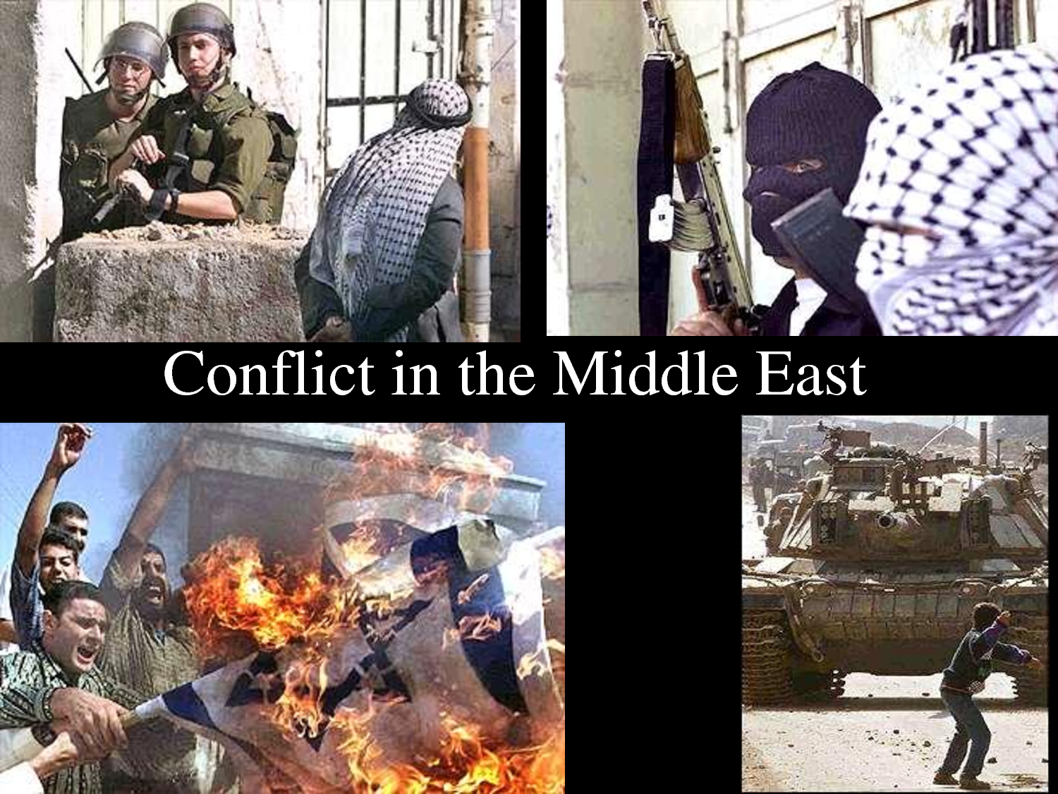 conflicts of the middle east Conflicts of the middle east today's lesson on the role of religion in the conflicts of the middle east can be one full of emotion and opinion for this reason, we're going to spend our time looking at the factual information surrounding this often tumultuous part of our world in doing this, we'll give a brief summary of three of the.