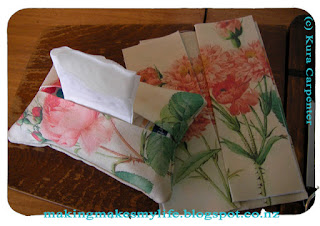 Antique Roses Fabric, Tissue Purse packs made by Kura Carpenter
