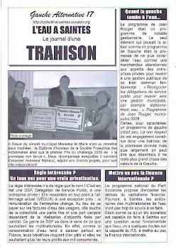 """""""Rouger de Saintes"""" accusé de """"trahison"""""""