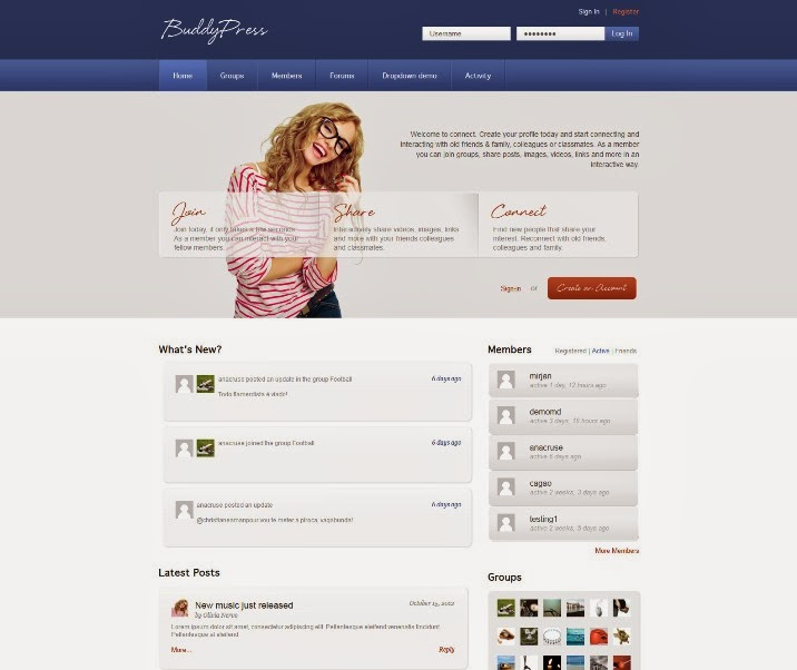 Connect – BuddyPress & WordPress Community Theme