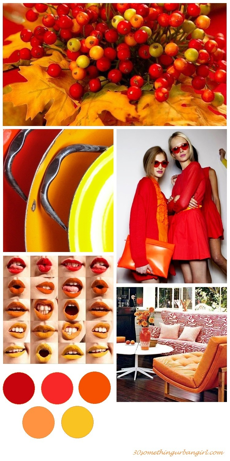 colorful red, orange and yellow color palette