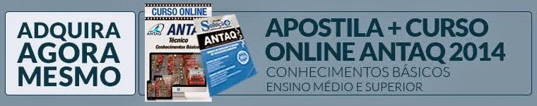 Curso Online e Apostila ANTAQ 2014