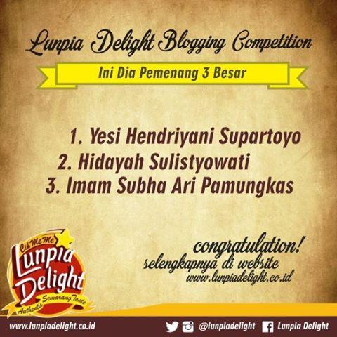 1st Winner Lunpia Delight Semarang