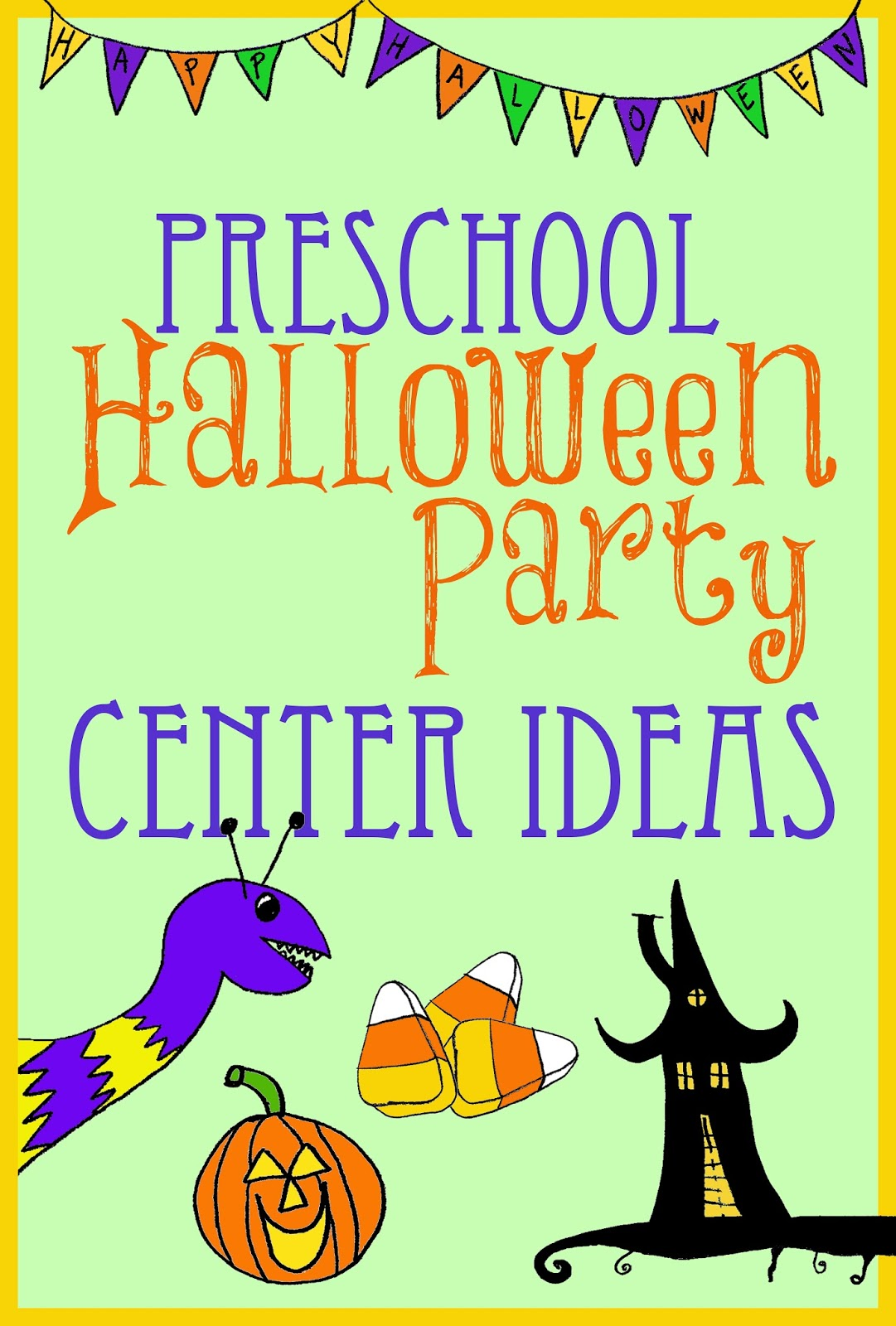 Halloween Party Center Ideas for Preschool/Kindergarten