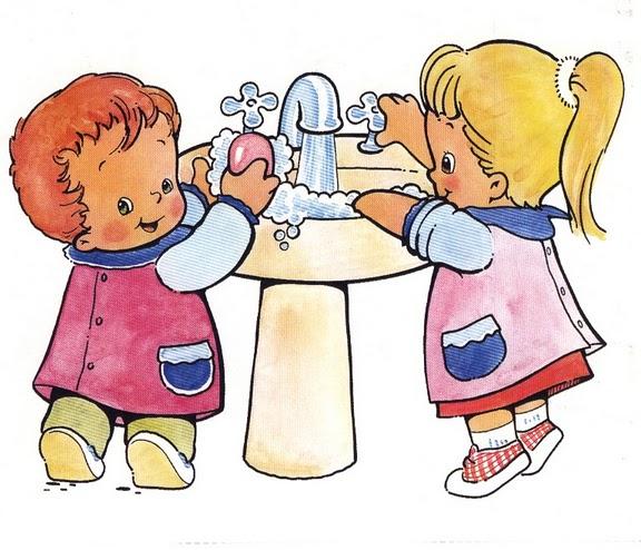 Gifs animados de niños lavandose las manos - Imagui