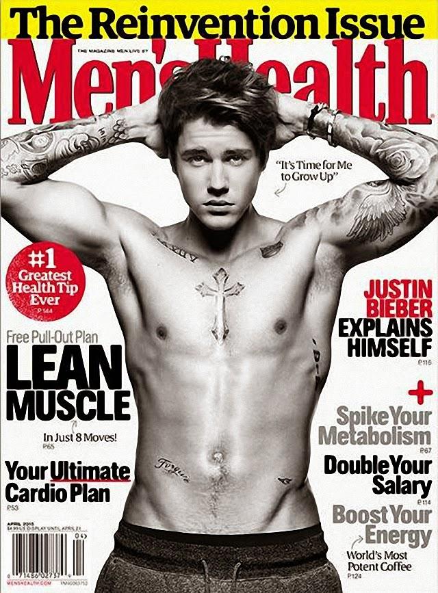 Justin Bieber Men's Health Magazine
