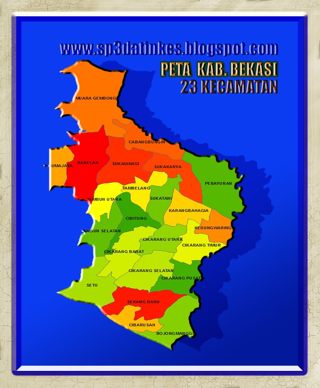 Gb. Peta wilayah Kabupaten Bekasi