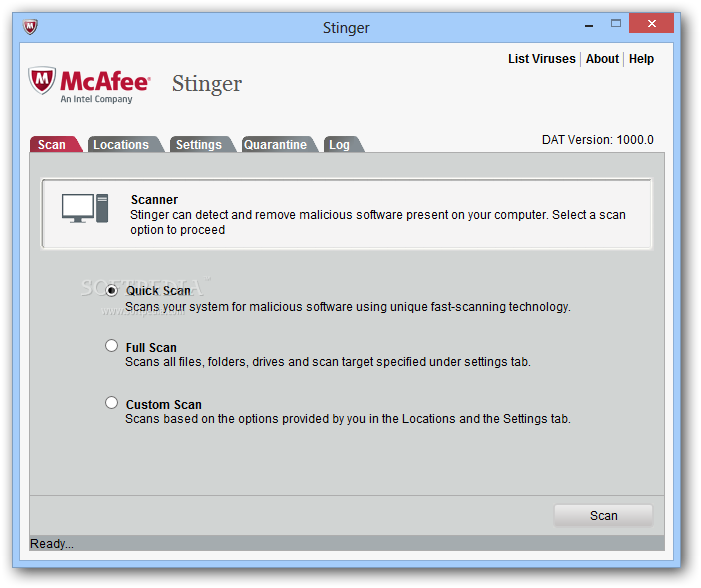 McAfee AVERT Stinger 11.0.0.360 Software Free Download