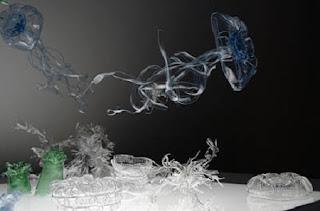 Arte con Botellas de Plastico Recicladas, Especies Marinas con Botellas