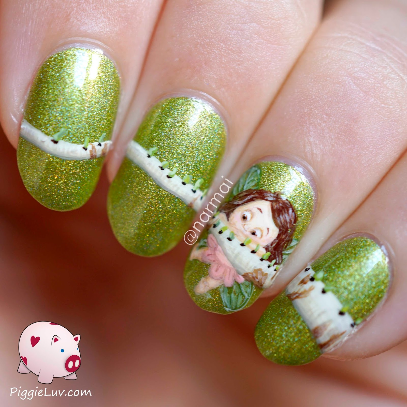 simple freehand nail art designs