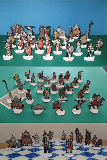 Roman against Celts Paper Wargame miniatures