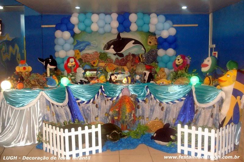 tema Fundo do mar para decoração de festa infantil