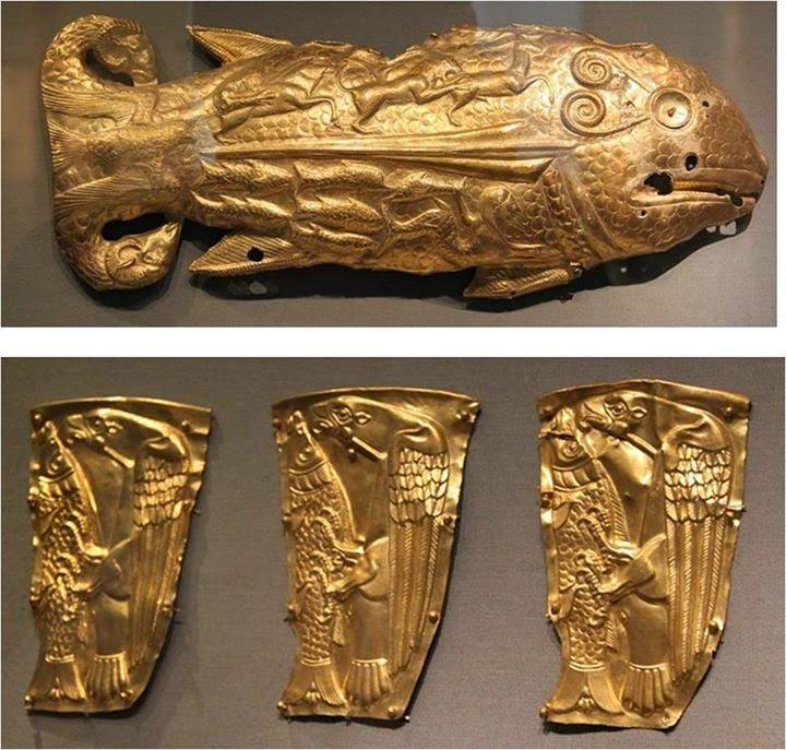 İskit (OQ) Türkleri'nin Altın Balığı. Altes Museum, Berlin