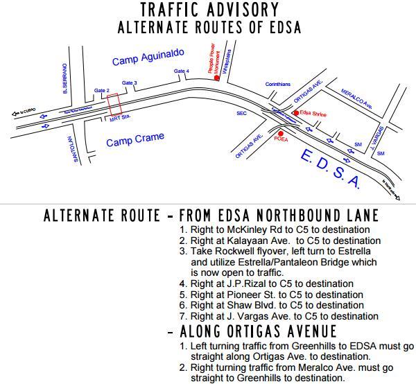 MMDA traffic advisory EDSA northbound  August 30