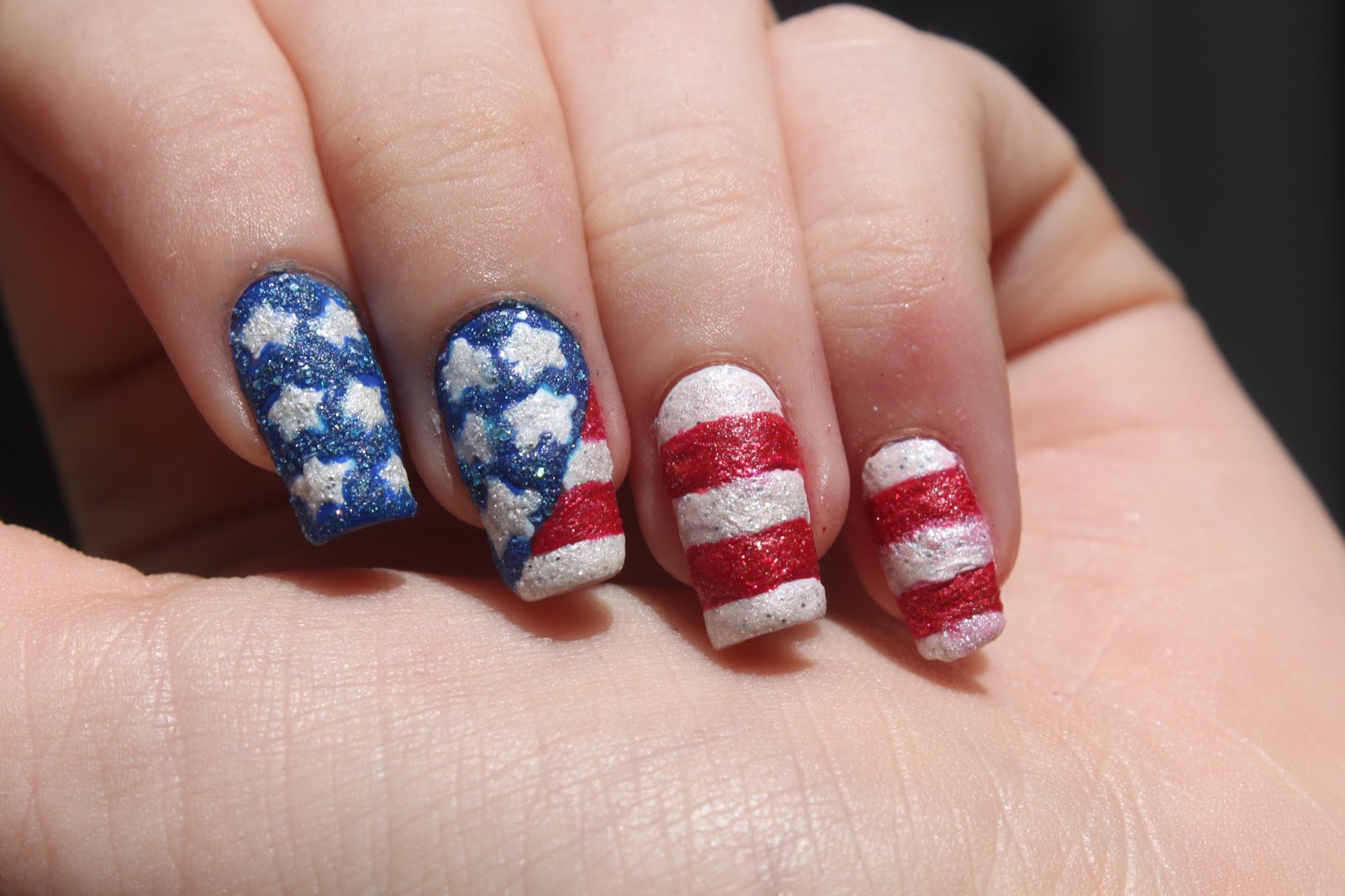 By My Fingertips Textured American Flag Nail Art