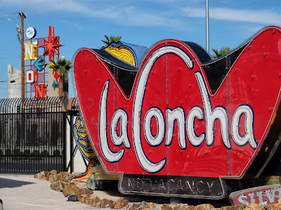 "The ""La Concha"" Sign. (The former motel's lobby is now the museum's visitor center.)"
