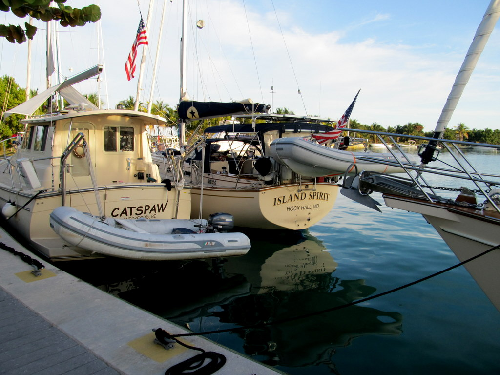 Our Island Packet Fleet along the Boca Chita Seawall