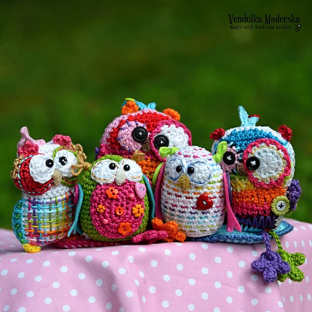 Crochet owl by VendulkaM