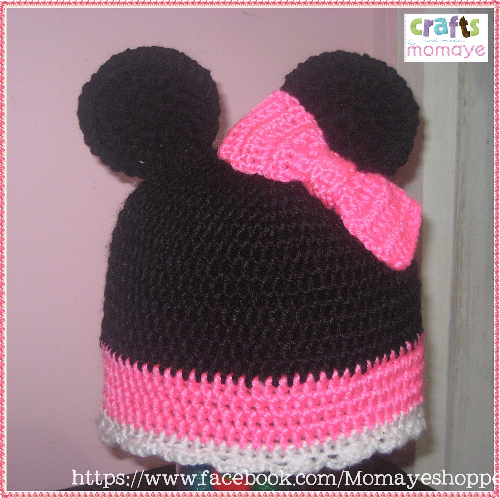 Crochet Mickey & Minnie Mouse Hat