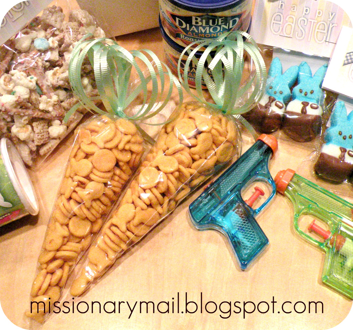 Missionary mail easter fun goldfish carrots negle Images