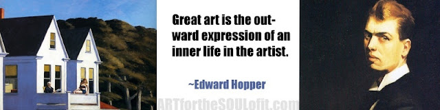 edward hopper quote great art is the outward expression...