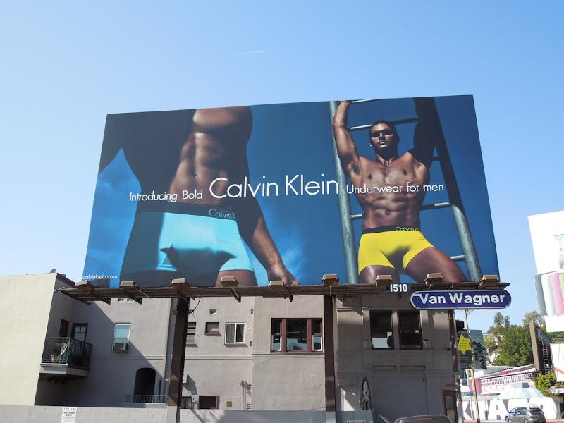 Hot CK Bold men's underwear billboard