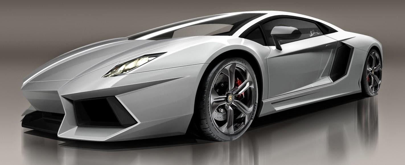Mobil Lamborghini Aventador putih