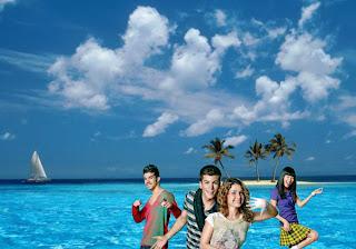 Wallpapers Posters dos Morangos com Açucar a dançar na Ilha Deserta Azul