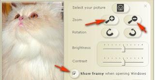 Memasang foto di desktop menggunakan gadget photo frame