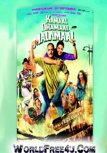 Poster Of Hindi Movie Kamaal Dhamaal Malamaal (2012) Free Download Full New Hindi Movie Watch Online At worldfree4u.com