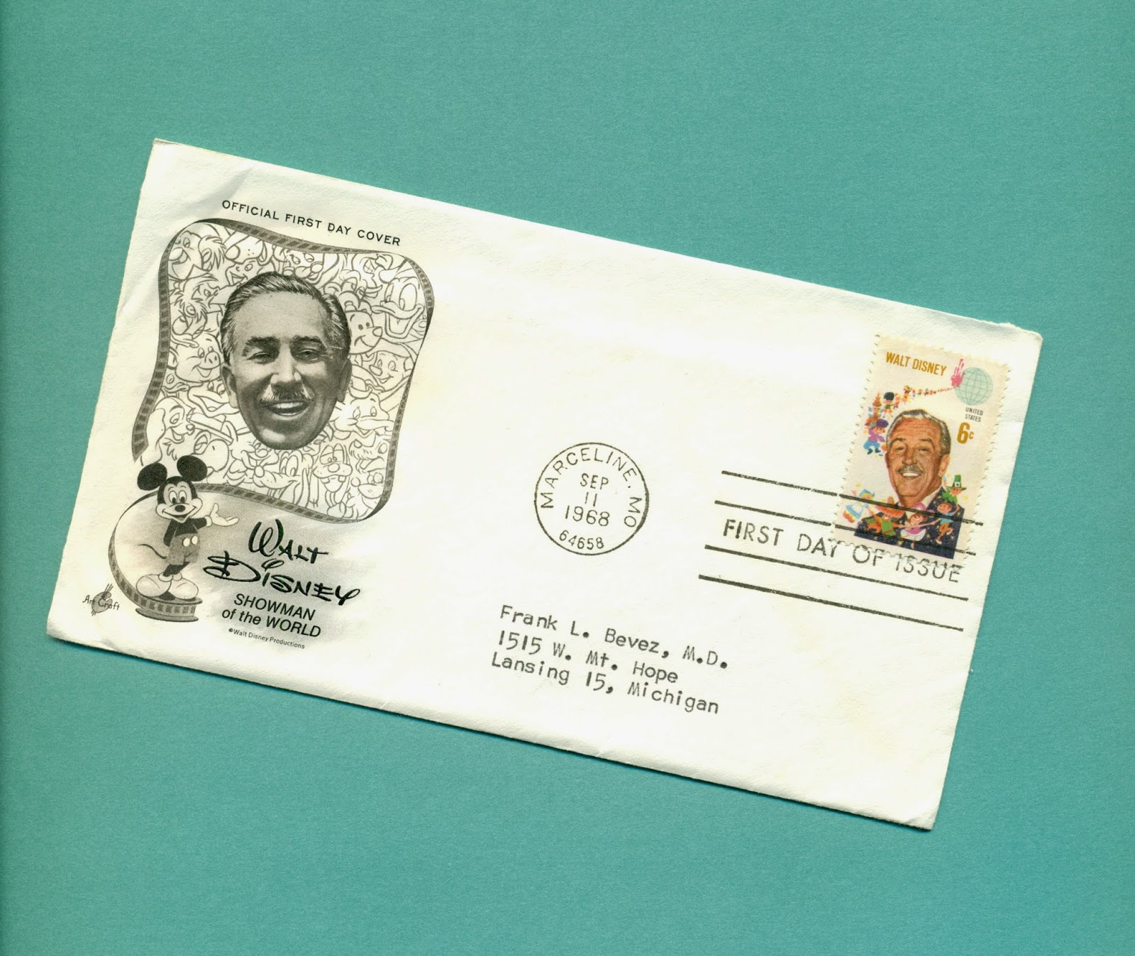 image regarding Disney Printable Envelopes called gold state women of all ages: The Walt Disney Stamp Debut, Circa 1968
