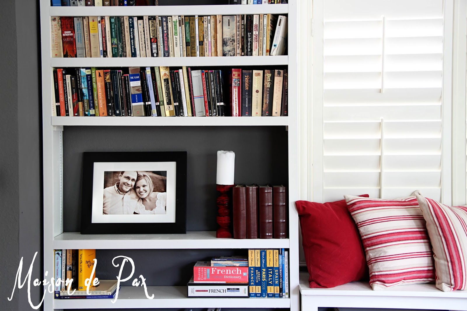 Wonderful image of DIY Built In Bookshelves Maison de Pax with #AA6B21 color and 1600x1066 pixels