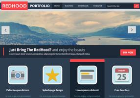 Red Hood Portfolio Blogger Template