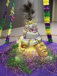 Mardi Gras Wedding Cakes