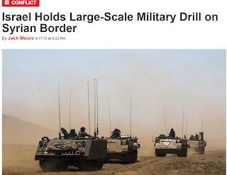 Israeli war drill - target Syria