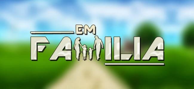 Novela Em Familia Logo CD   Em Família   Trilha Sonora Internacional (2014)