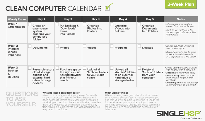 SingleHop, How to Clean Your Computer, National Clean Up Your Computer Month
