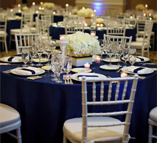 navy blue wedding ideas wedding reception