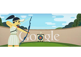 Google doodles London 2012 Archery
