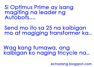 Si Optimus Prime ay isang maiting na leader ng Autobots, send this at magiging transformer ka