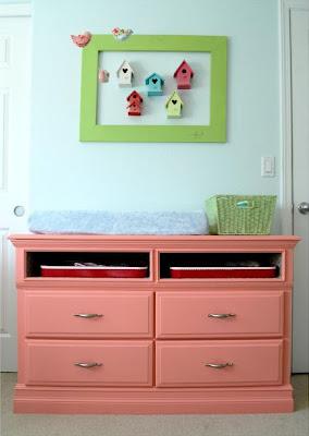 Coral Dresser Makeover