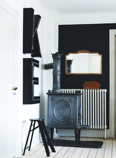 wood burning stove interior design