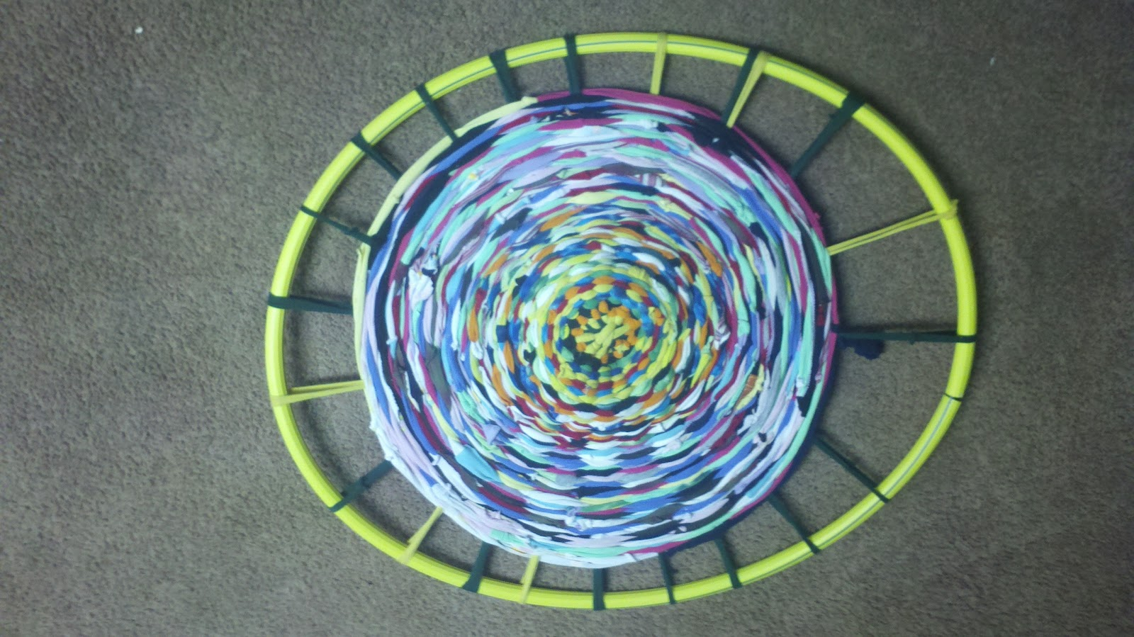 Samie Designs Taming The T Shirt Monster The Hula Hoop Rug