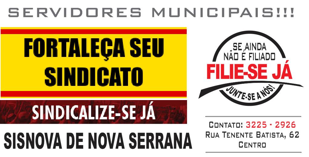 Sisnova - Sindicato dos Servidores Públicos Municipais de Nova Serrana - MG