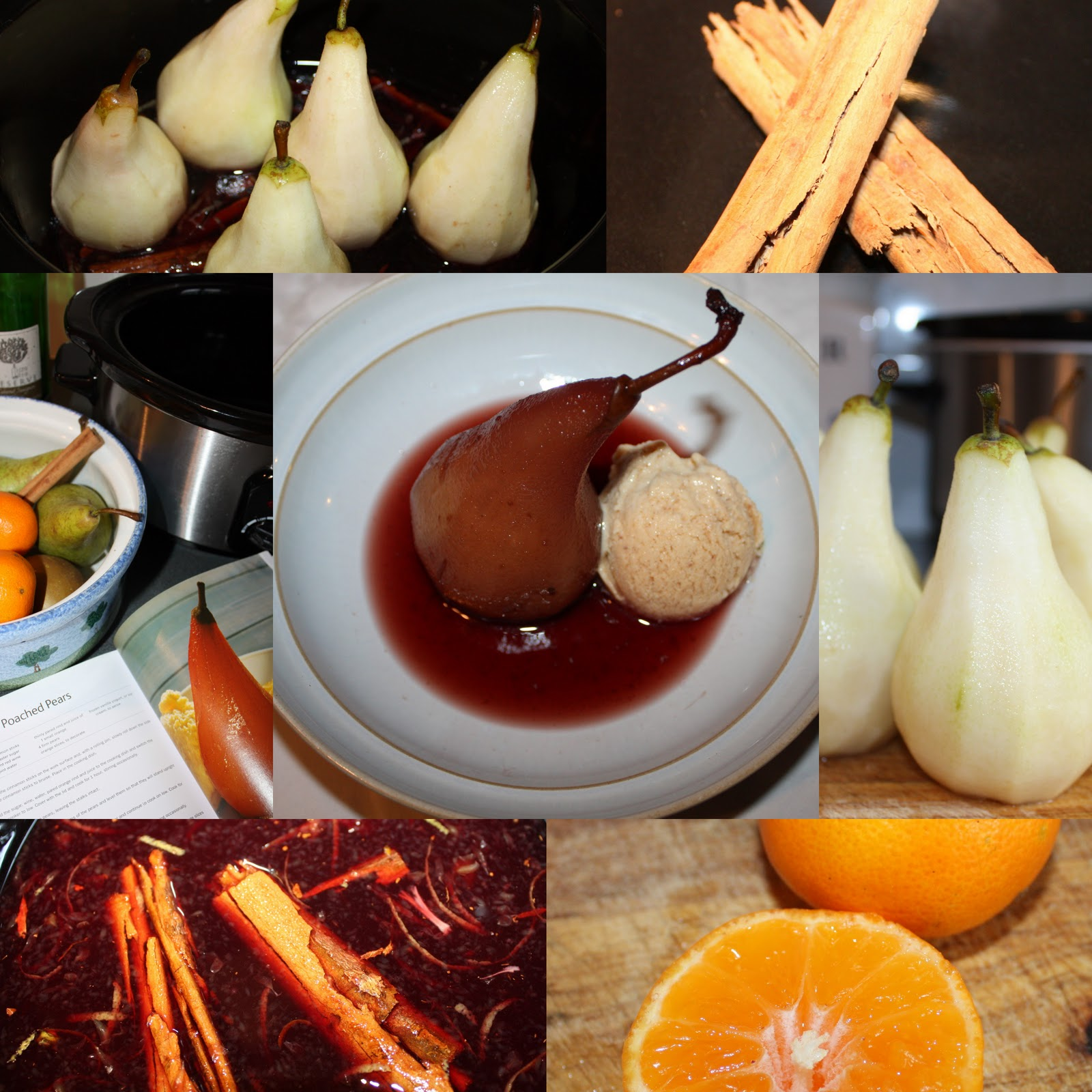 poached pears smell so wonderful and festive while they are cooking ...