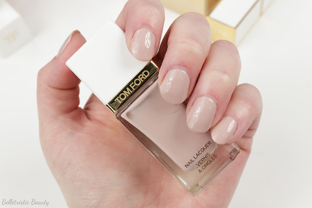 Tom Ford 01 1 Sugar Dune Nail Polish Lacquer swatch, Spring 2014 Collection in studio lighting