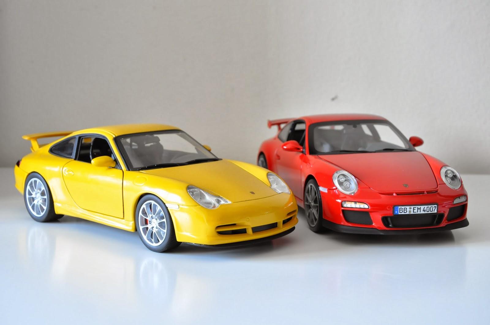 1 18 Hotwheels Porsche Gt3 996 Vs Norev Porsche Gt3 997 2 Erictoys Blogspot Com